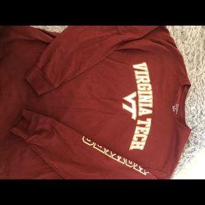 Virgina Tech Long Sleeve Printed Shirt